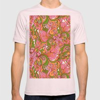 Abstract nature Mens Fitted Tee Light Pink SMALL