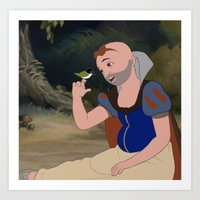 Beautiful Snow White Art Print
