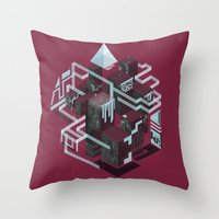Dark Chocolate, Cherries… Throw Pillow