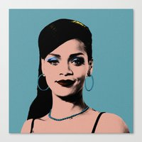 Rihanna Pop Art Canvas Print
