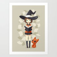 Little Witch 2 Art Print