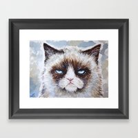 Tard The Cat Framed Art Print