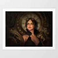 Steampunk Time Keeper Art Print