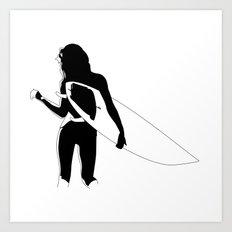 Surf Chick Art Print