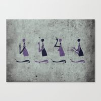Forms of Prayer - White Canvas Print