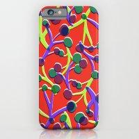 Orange floral. iPhone 6 Slim Case