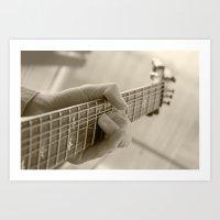 Play That Guitar Art Print
