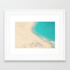 beach love III - Nazare Framed Art Print