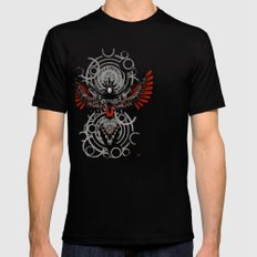 Divine Crow Woman Mens Fitted Tee Black SMALL