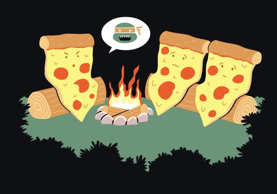 Campfire Tales Of A Pepperoni Pizza Canvas Print