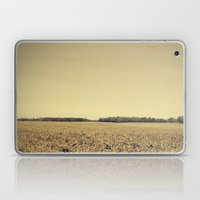 Lonely Field In Brown Laptop & iPad Skin
