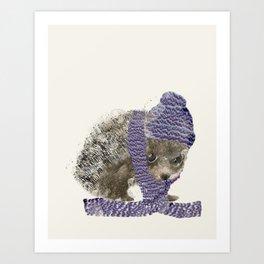 Art Print - little winter hedgehog - bri.buckley