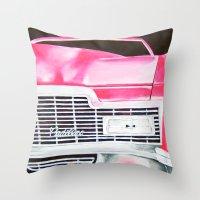 Pink Cadillac - Cotton C… Throw Pillow