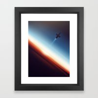 Into Space Framed Art Print