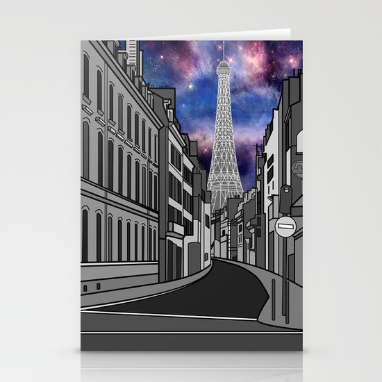 Paris: The Center of the Universe Stationery Card