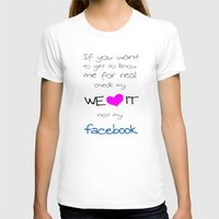LOVE WE*HEART*IT Womens Fitted Tee White SMALL