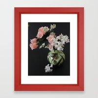 Small pot of Flowers Framed Art Print