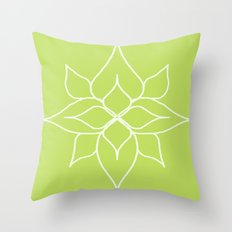 Green Floral Pattern One Throw Pillow