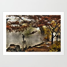 Steamy days Art Print