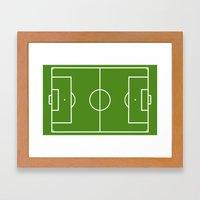 Football field fun design soccer field Framed Art Print