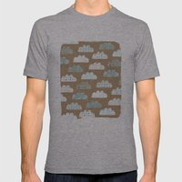 clouds pattern Mens Fitted Tee Athletic Grey SMALL