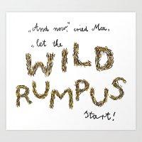 Let The Wild Rumpus Star… Art Print