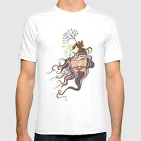 Bearded Lady Mens Fitted Tee White SMALL