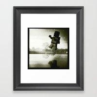 Boba Fetts Flight Framed Art Print