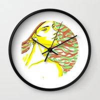 summer girl 1 Wall Clock