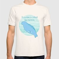 Manatees Are Rotund Sea-… Mens Fitted Tee Natural SMALL