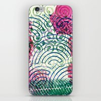 Ghosting green to pink iPhone & iPod Skin
