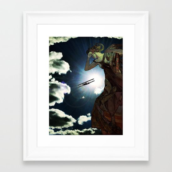 Blinded by the Lights Framed Art Print