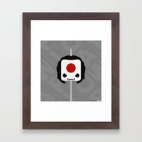 Marshmallow Katana Framed Art Print