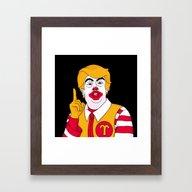McDonald Trump Framed Art Print