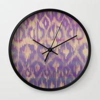 Ikat2 Wall Clock