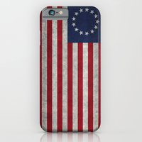 The Betsy Ross flag of the USA - Vintage Grungy version iPhone 6 Slim Case