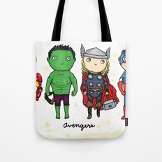Super Cute Heroes: Avengers! Tote Bag