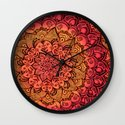 Ruby & Garnet Doodle Wall Clock