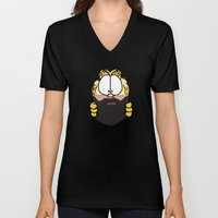 Garfield Cat Beard Unisex V-Neck