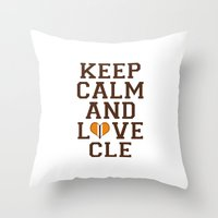 LOVE CLE BROWNS II Throw Pillow