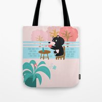 Drink a cup of coffee Tote Bag