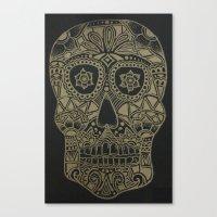 Gold Skull Canvas Print