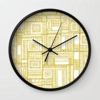 Golden Doodle patchwork Wall Clock