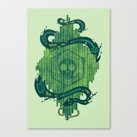 Green Is The Color Of De… Canvas Print