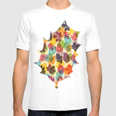 Autumn leaves SMALL Mens Fitted Tee White