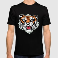 Tiger Mask Black Mens Fitted Tee SMALL