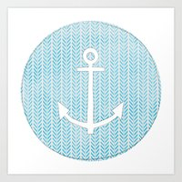 Anchor in Blue Art Print