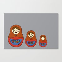 3 Matroyshkas Canvas Print
