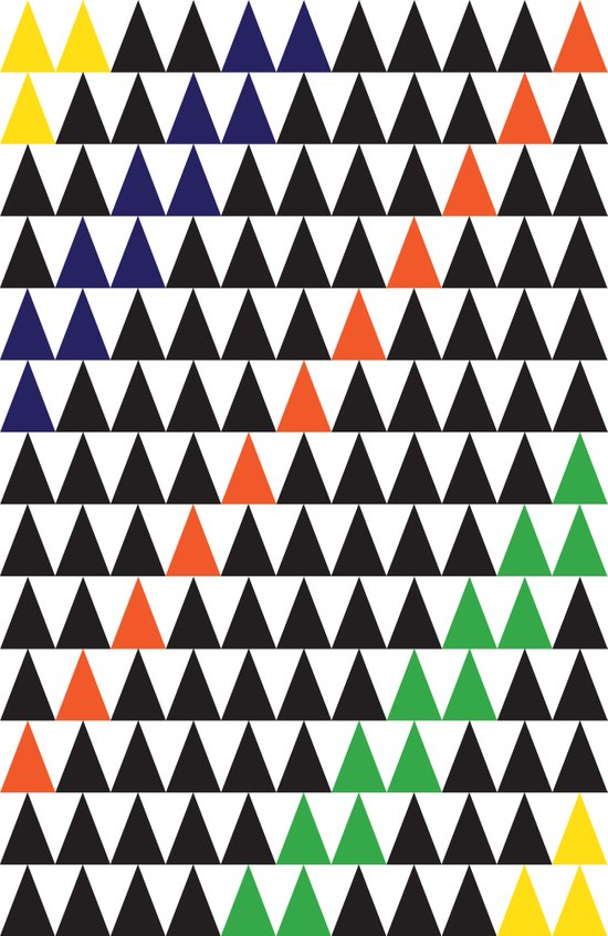 graphic triangle Art Print