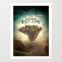 Art Print featuring The Great Escape by Falcon White
